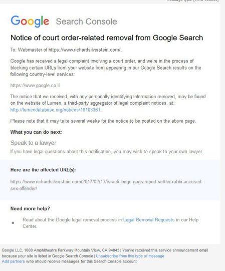 google censorship israel