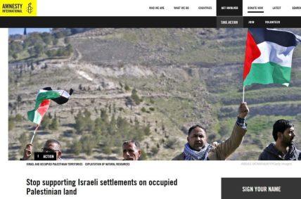 amnesty international israeli settlements
