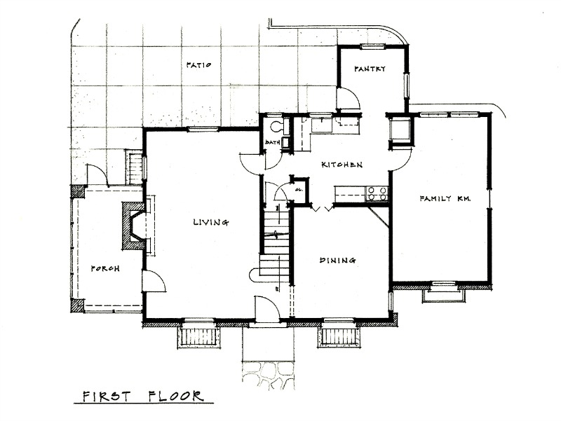 KC Bungalow Floor Plan 1 Richard Toyne Architect