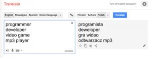 Keeping ahead of language change with Google Translate