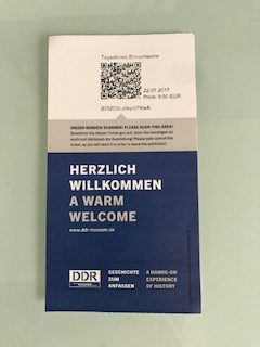 Ticket for the GDR (DDR) Museum in Berlin