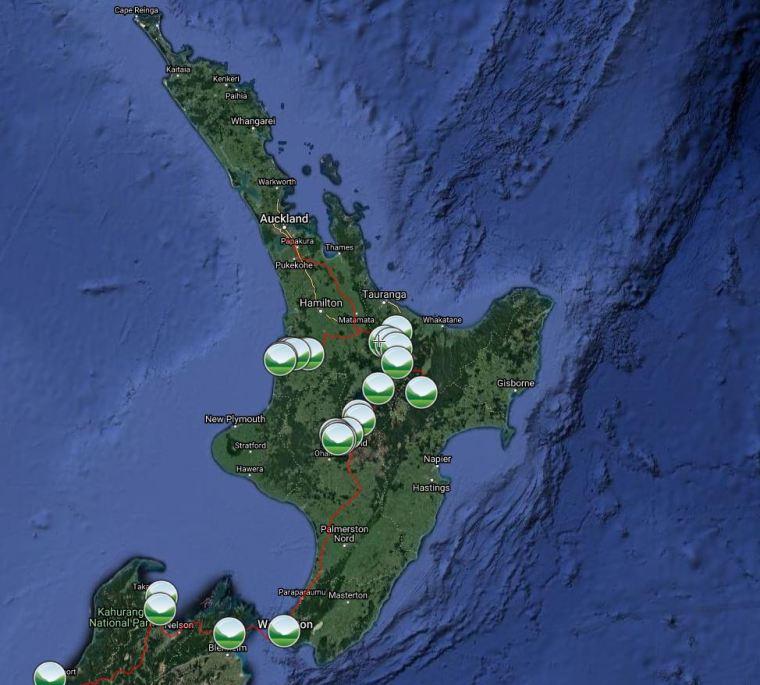 Unsere Reiseroute der Nordinsel: So viel Reise für so wenig Geld