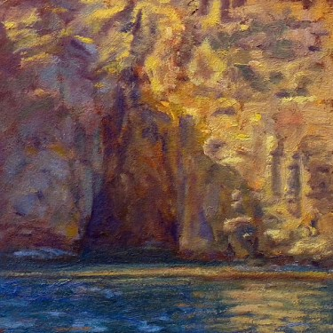 """The Watery Cave Study 10"""" x 10"""" Oil •"""
