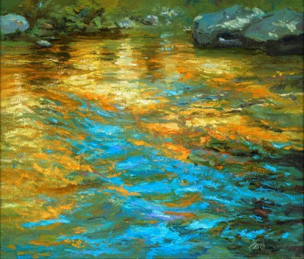 """Illume"" 22x26"" Oil on Canvas with 1"" Black Frame $4200"