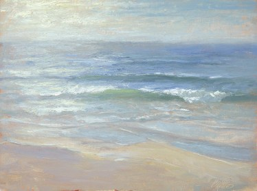 """Horizon 3 — Carmel Beach"" 12x16"" Oil on Canvas Panel"