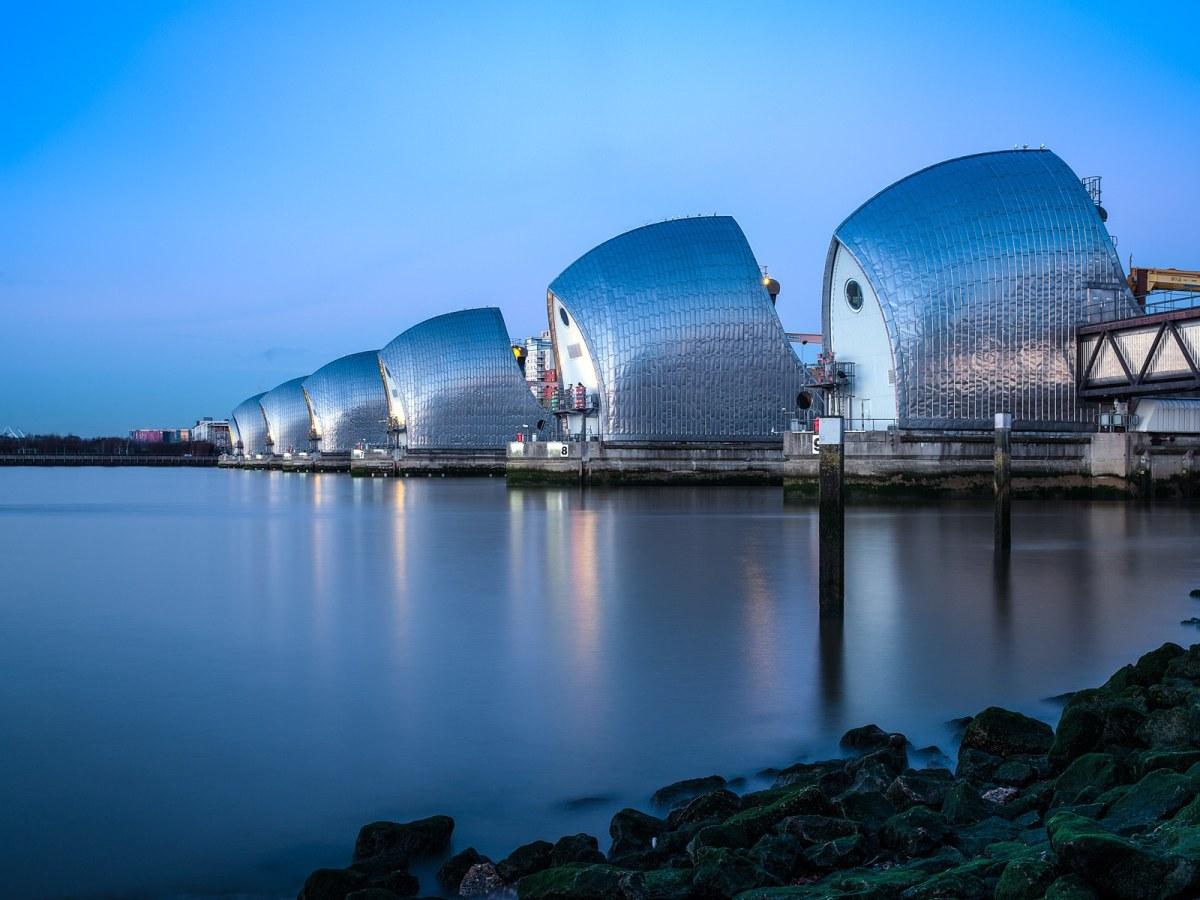 Thames Barrier - Blue and Still