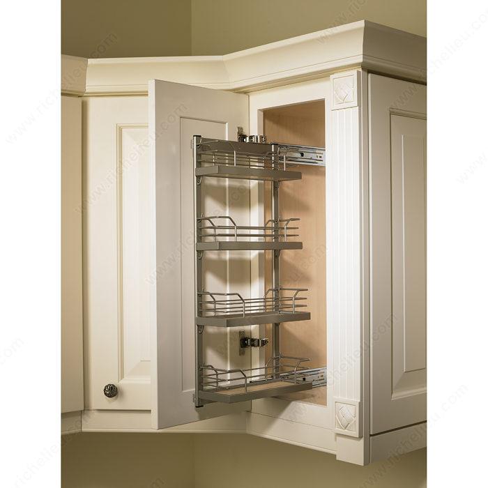 upper cabinet sliding spice rack