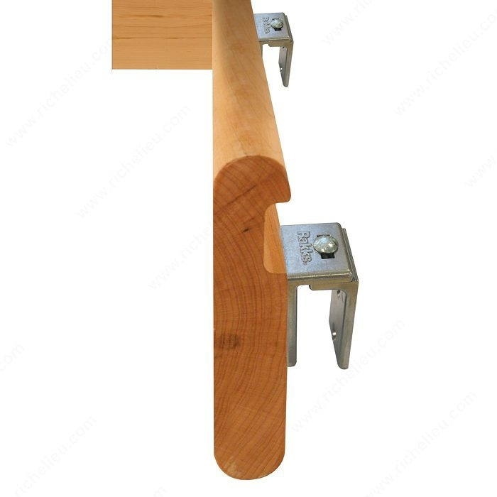 Adjustable Bracket For Secure Wood Handrail Richelieu Hardware | Wall Mounted Handrails Wood | Stair Handrail Bracket | Capozzoli Stairworks | Stair Parts | Wood Staircase Handrail | Wrought Iron