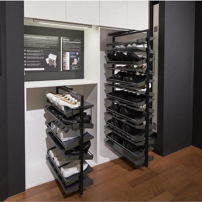revolving shoe system richelieu hardware