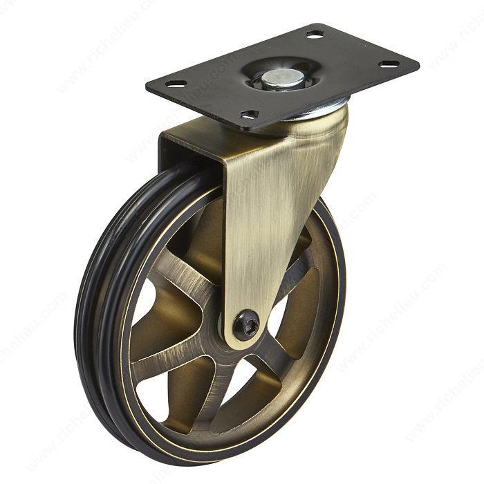 roulette vintage simple en aluminium