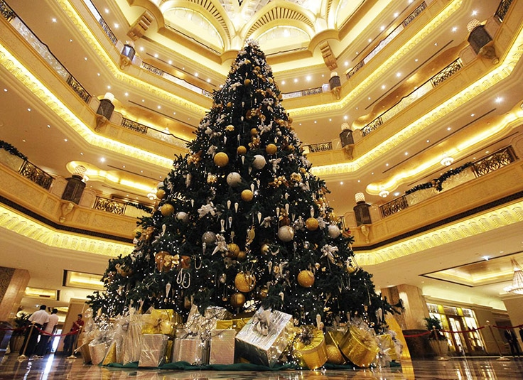 Emirates Palace Christmas tree