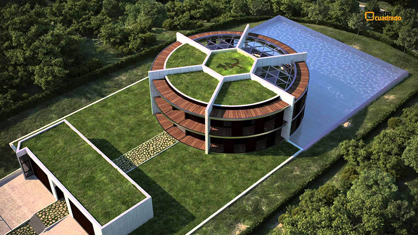 Lionel Messi's Ball-Shaped House