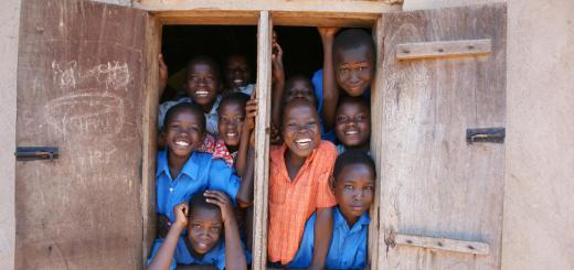 Image of school children in Africa that benefit from charitable donations