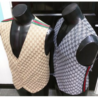 gucci vest with ribbon