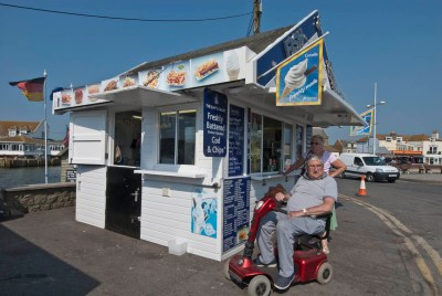 fish and chip huts west bay jurassic coast dorset england-2
