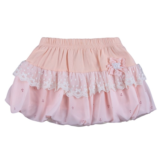Multilayered Skirt with Lace
