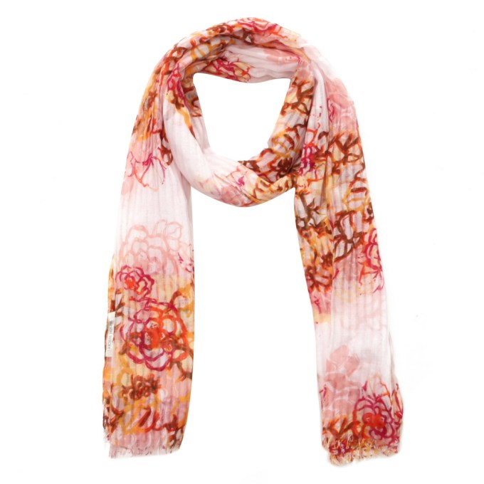 Scarf With All Over Flower Print