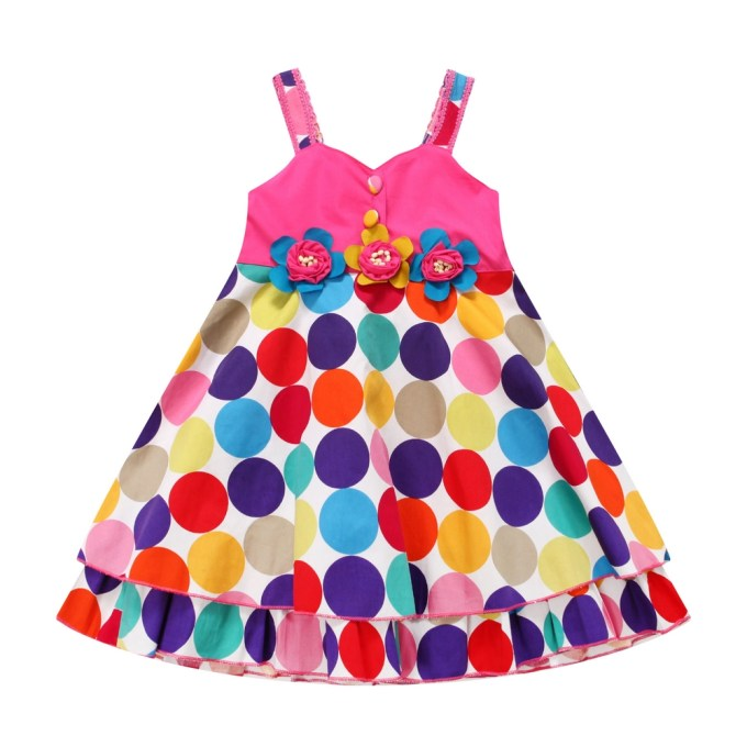 Bright Multicolored Dot Dress