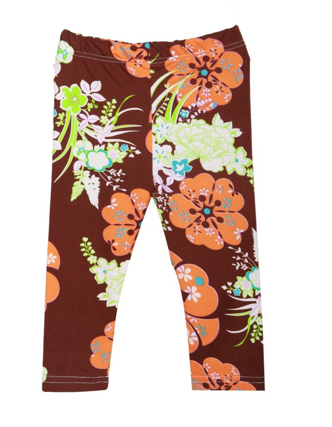 Stretch Pants with Abstract Florals