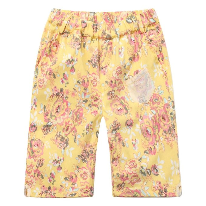 all over floral printed shorts