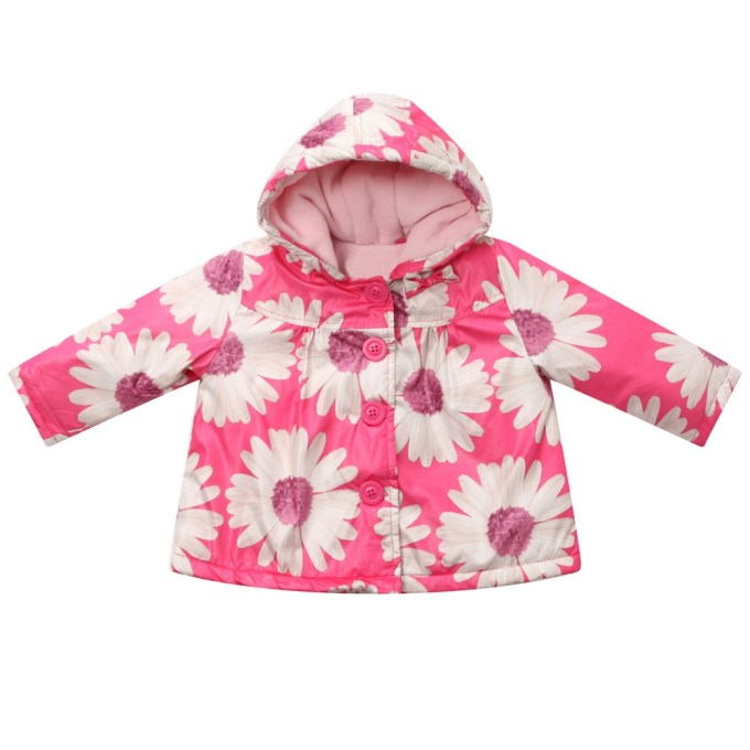 Coat with Big Flower Print