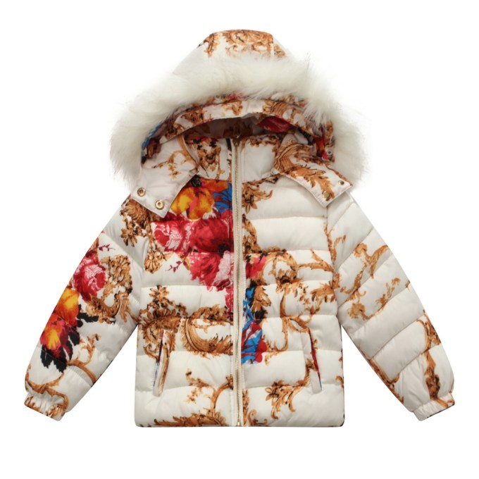 Padding Jacket with Allover Print