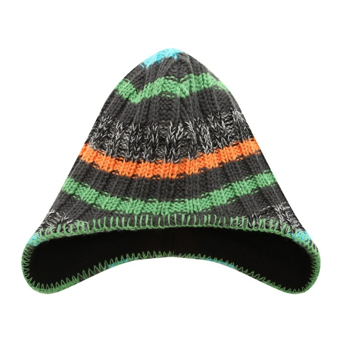 Striped Cap with Earflap