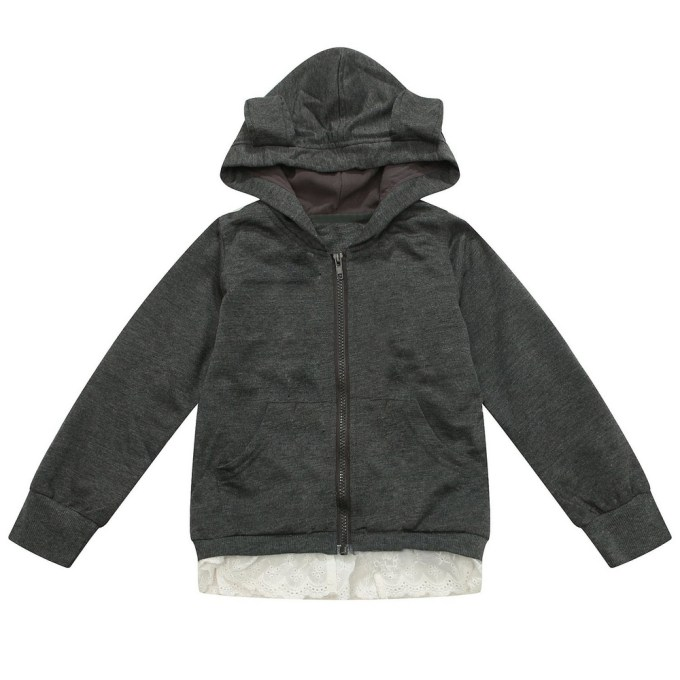 Cardigan with Attached Hood