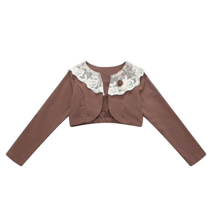 Long-sleeve Cape with Lace Collar