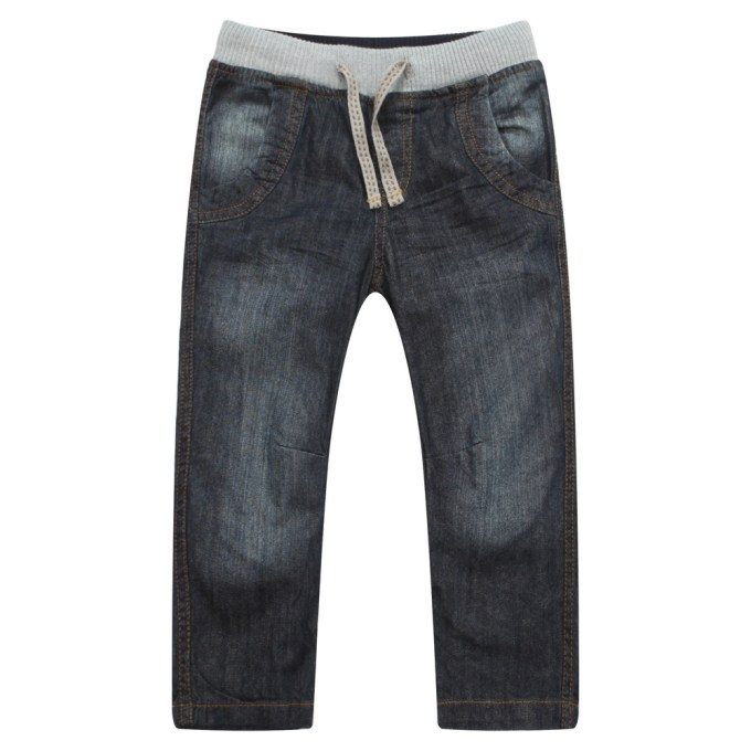 Fashion Denim Pants with Elastic Waistband