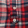 Plaid Blouse with Little Stand Collar