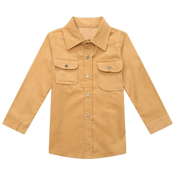Leisure Corduroy Shirt with Patch Pockets