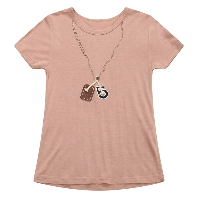 Medium Summer Short Sleeve T-shirt with Necklace Pattern