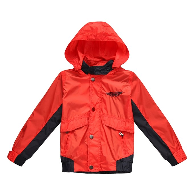 Contrasting Jacket with Hood