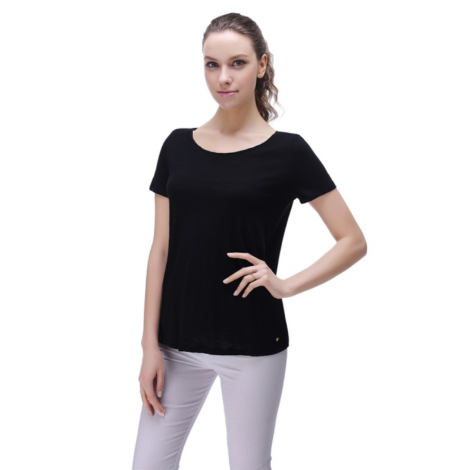 Solid Cotton Bamboo Blouse