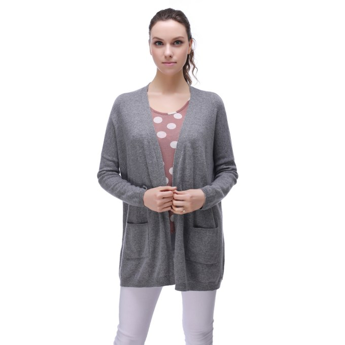 Cardigan Sweater with Two Pockets