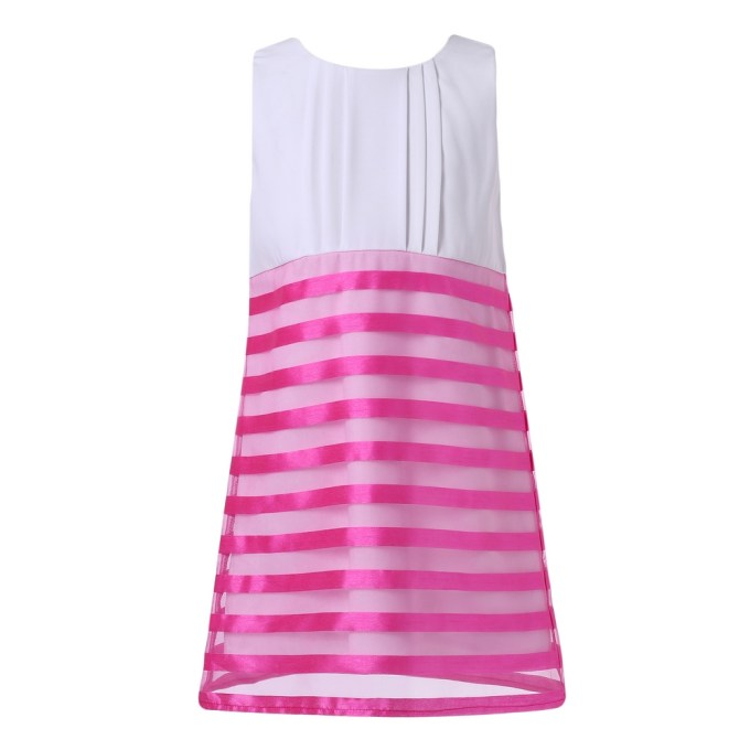 Summer Sundress with Striped Organza Embroidery
