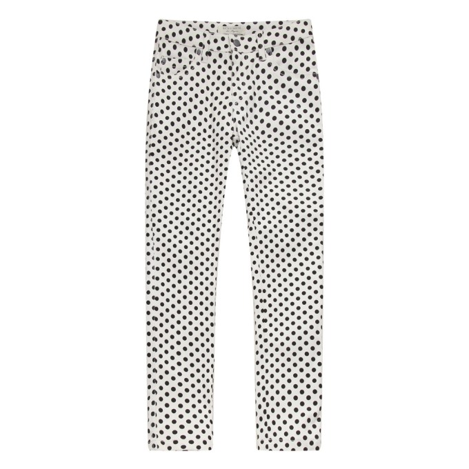Polka dot pants with elastic waistband