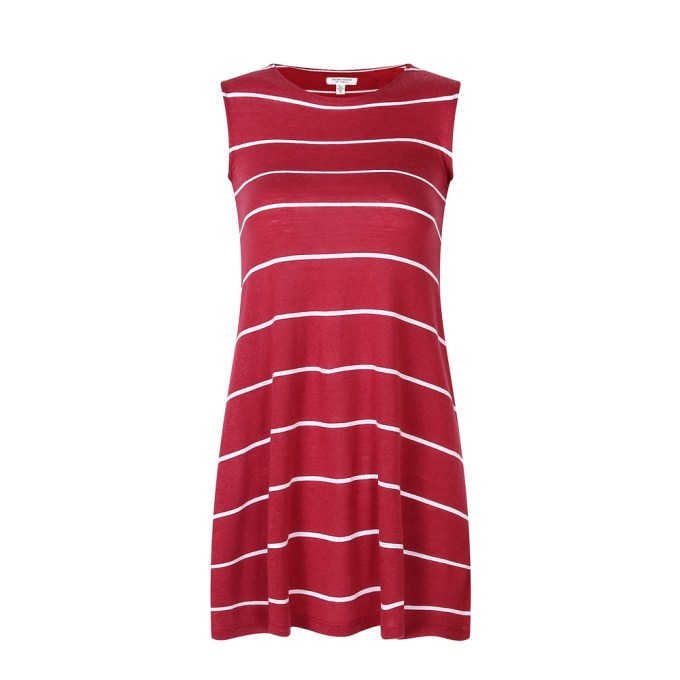 Medium Leisure Striped Knit Dress
