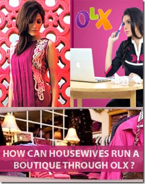 How can housewives run a boutique through OLX