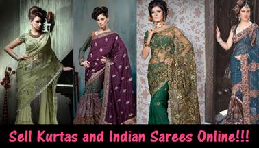 Sell Kurtas and indian Sarees online