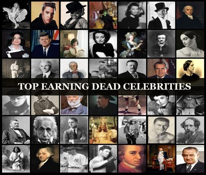 10 Top Earning Dead Celebrities