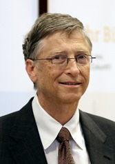 Bill Gates got rich after working hard