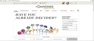 21diamonds.com Indian jewelry website