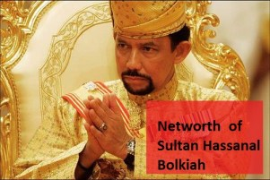 net worth of Sultan Hassanal bolkiah