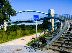Interesting cycle bridge