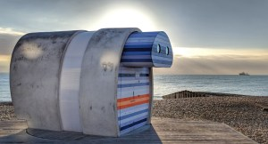 Telescope Beach Hut, Eastbourne