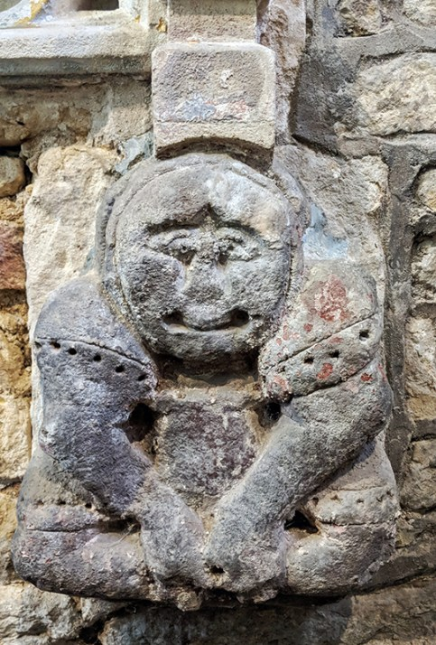 """Pagan"" figure, Geddington Church"