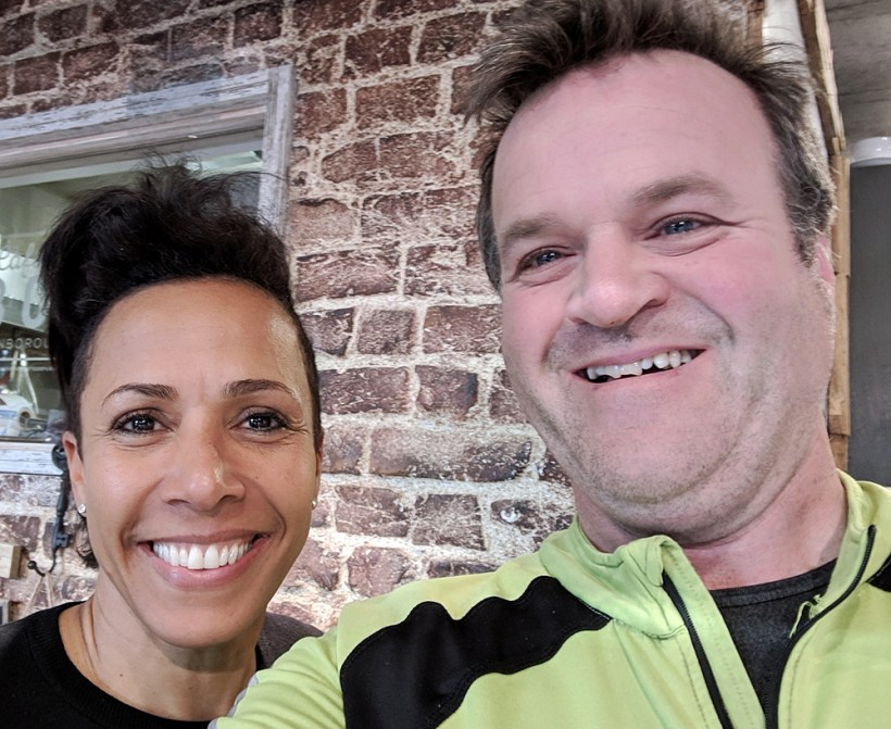 Selfie with Dame Kelly Holmes