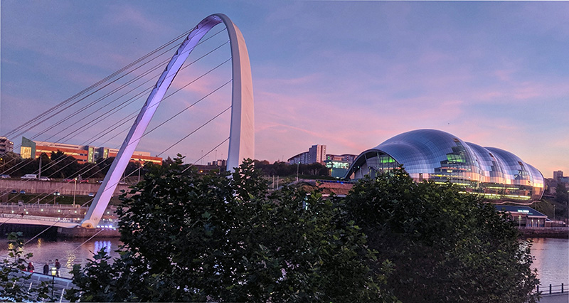 Gateshead at Dusk